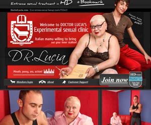 Welcome to Doctor Lucia's Experimental sexual clinic! Italian mama willing to bring out your inner stallion! HiDef Mature BBW Porn!