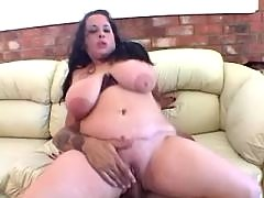 Fat slutty rides cock and gets cum