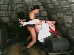 Amazing fat babe get meathole drill