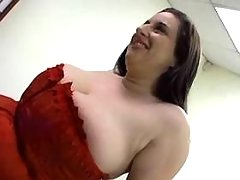 Chubby busty milf titsfucked by man