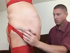 Flabby mature spoils amateur dude