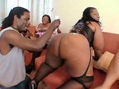 Big black ladies licked in group